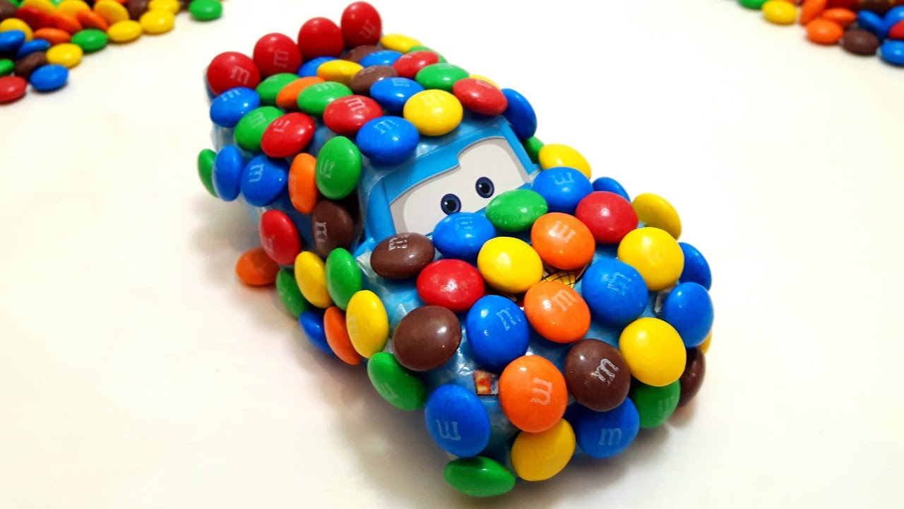 DIY Cars Lightning Mcqueen Create M&M's Cars Learn Colors
