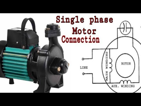 SINGLE PHASE MOTOR CONNECTION 220v and 110v Tamil on