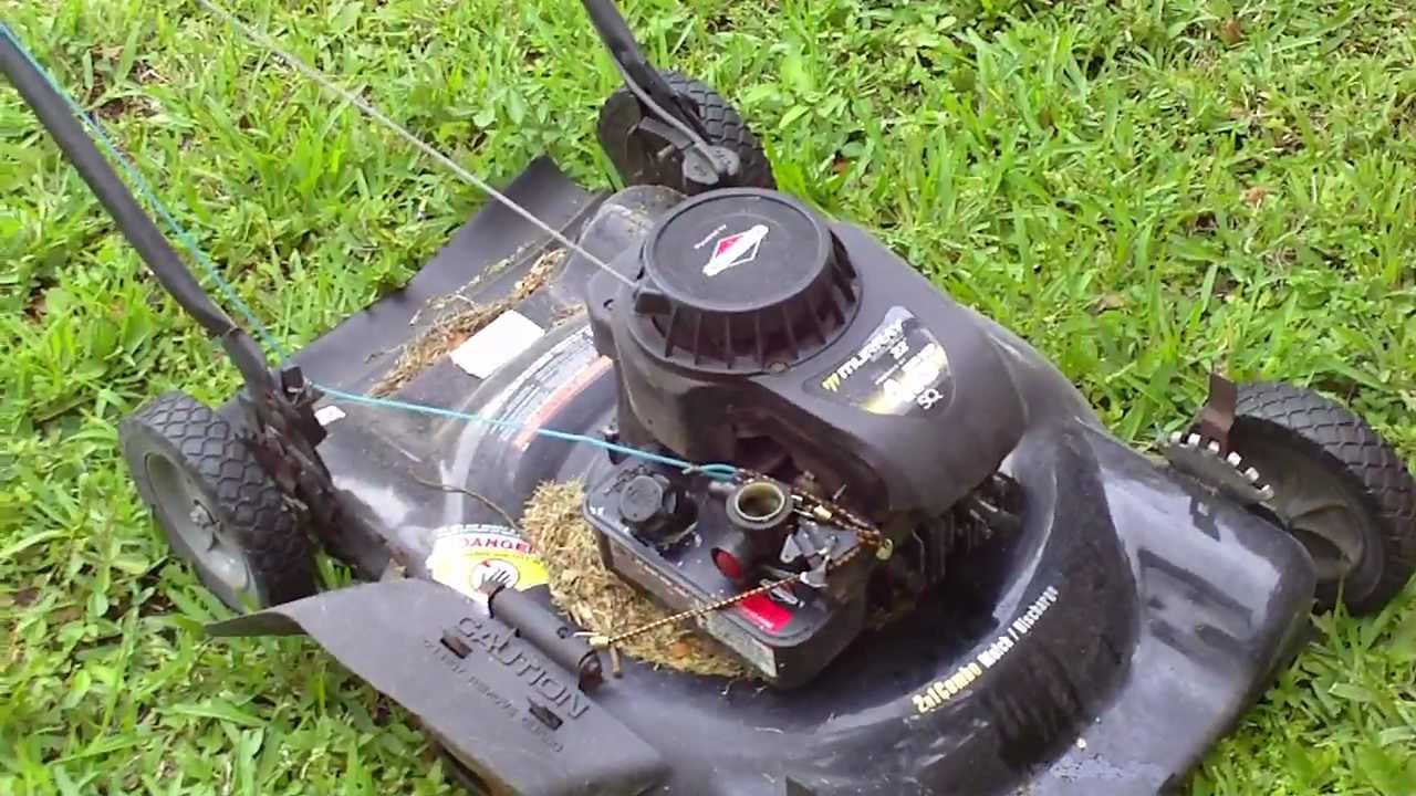 Converting Lawn Mower To Manual Throttle Youtube