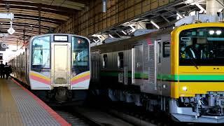 【加速音と警笛あり】GV-197系 試運転 新潟駅発車