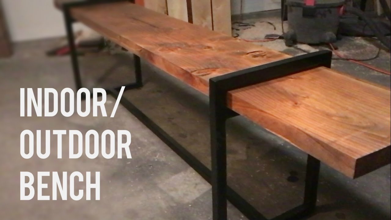 Diy Modern Indoor Outdoor Bench Wood And Steel