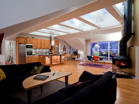 Awesome Loft Interior Design Ideas : Scandinavian Design, A Modern Loft in the Attic