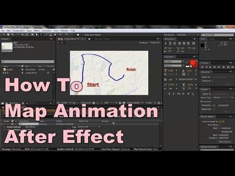 วิธีทำแผนที่เคลื่อนไหว ใน 5 นาที How to Map Animation. After Effect