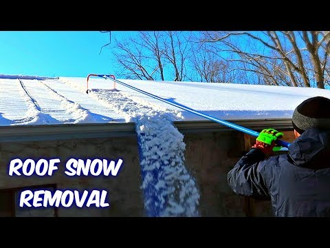 Snow Removal Gadget from a Roof