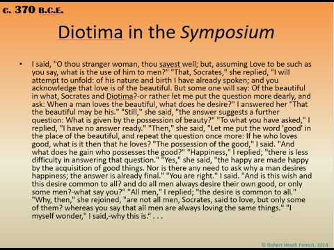 "role of diotima in platos symposium Vlastos clearly grants diotima the authority since he reads plato""s position into  her statements  in the symposium we hear about eros"" role as mediator."