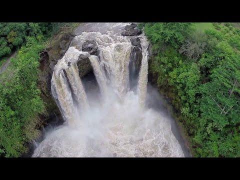 Video: Hilo Hawaii - Rainbow Falls 2014 Hurricane Iselle