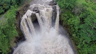 Video: Hilo Hawaii - Rainbow Falls 2014 Hurricane Iselle