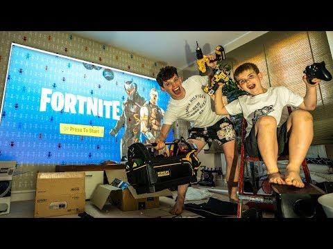 BUILDING the ULTIMATE FORTNITE Gaming ROOM! Episode 1!