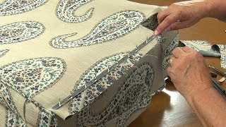 Upholstery Tack Strip Demo - How to Use