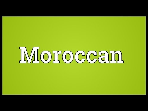 Moroccan Meaning