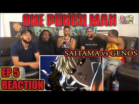 SAITAMA Vs GENOS! ONE PUNCH MAN EPISODE 5 REACTION/REVIEW