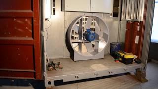 Промышленный майнинг в контейнере 20ft изготовление (2 этап)