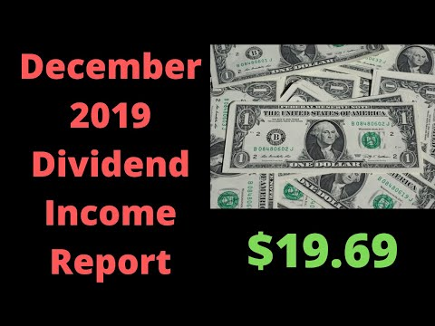 I got paid $19.69 in dividends for December 2019