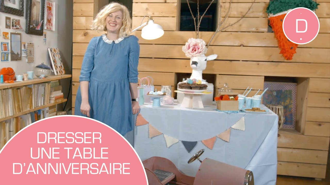 Deco De Table Anniversaire Diy Déco De La Table Danniversaire Youtube