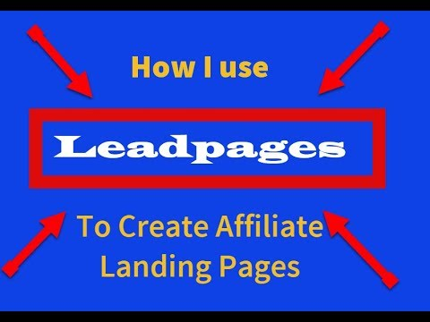 Leadpages Walkthrough Tutorial- Creation Of A Landing Page For An Amazon Product | 14 Day Free Trial