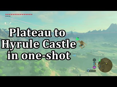 BotW: Setup For Bullet-time Bounce To Hyrule Castle From Temple Of Time