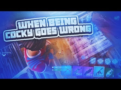 When being Cocky Goes Wrong on Fortnite...