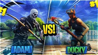DuckyTheGamer vs. AdamXLegend! I Beat the Best Fortnite Mobile Player In the WORLD?!