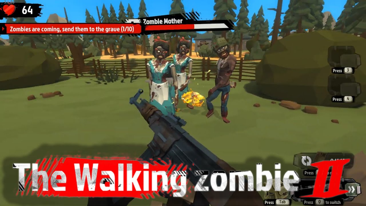 Fix the Fence in the Shooting Range | Let's Play - Walking Zombie 2