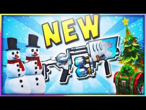 *NEW* FORTNITE SNOWBALL GRENADE LAUNCHER GAMEPLAY! - Fortnite Battle Royale Update