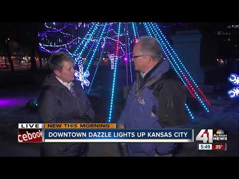 Dazzling lights, holiday activities in downtown Kansas City