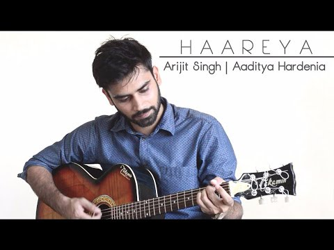 Haareya Cover | Drum beats on guitar | Meri Pyari Bindu | Arijit Singh |By Aaditya Hardenia