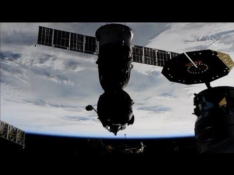 Soyuz MS-09 undocking and departure