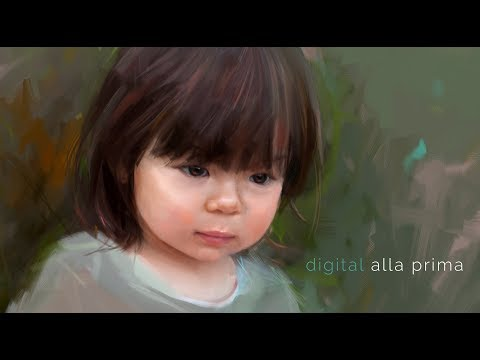 Digital Alla Prima in Corel Painter - the contemporary portrait - speed painting