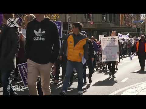 Protests Across New Zealand As Nurses Strike