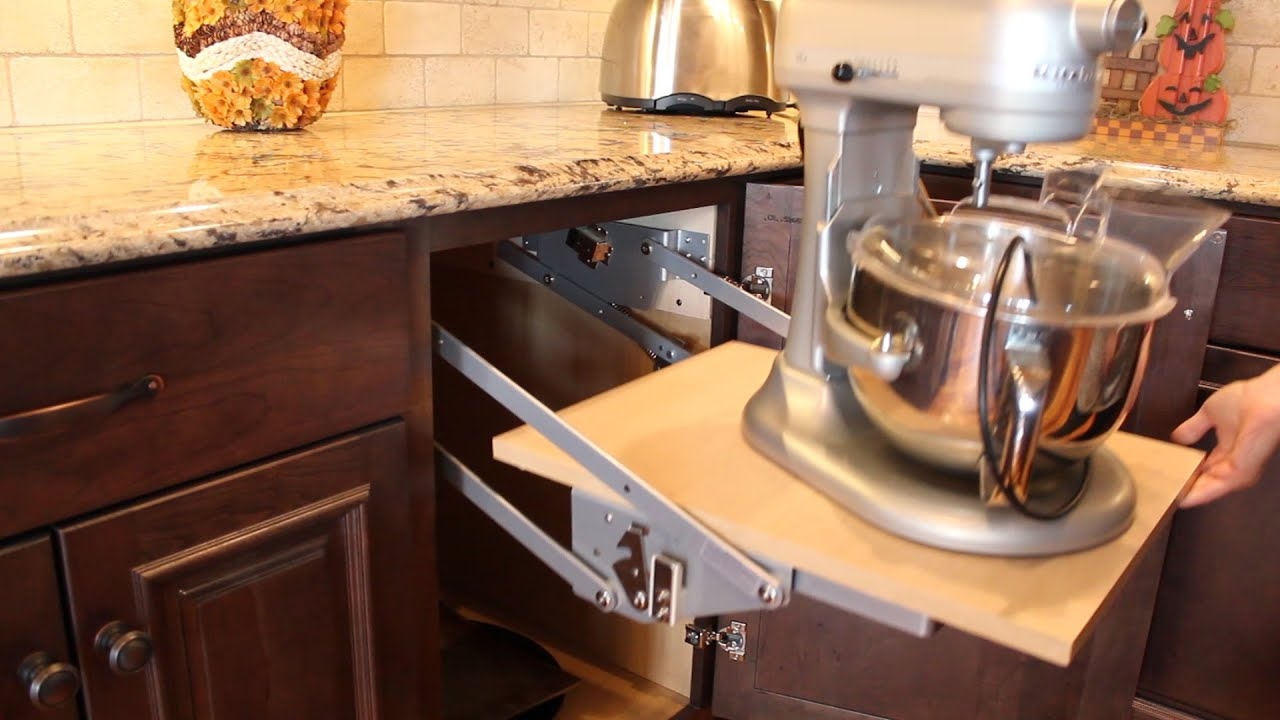 Best Kitchen Gallery: Mixer Lift Cabi Haas Cabi Youtube of Kitchenaid Stand Mixer Storage Cabinet on rachelxblog.com