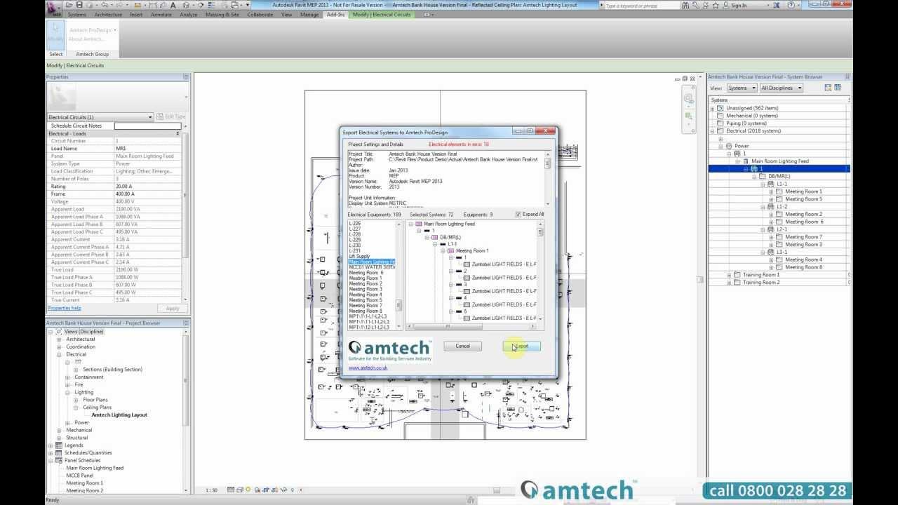 Amtech ProDesign Revit plugin Demo | Amtech Group