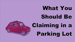 2017 Parking Lot Accident Tips |  What You Should Be Claiming in a Parking Lot Accident