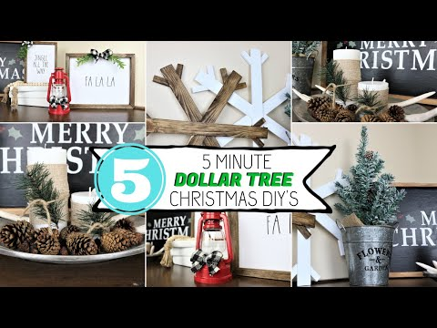 5 Minute Dollar Tree Christmas DIYS 2019 **NEW** 🎄