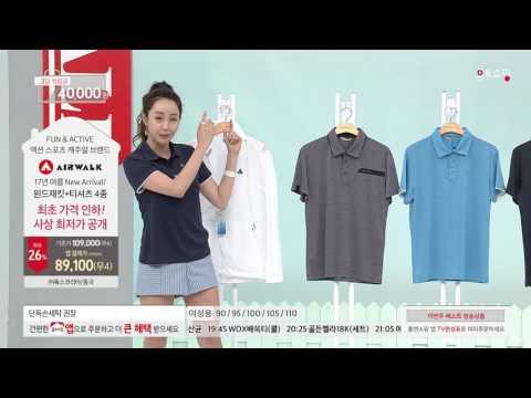 [홈앤쇼핑] [에어워크] 남성 쿨에어 패키지 (윈드자켓+티셔츠4종)