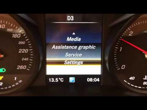 Mercedes C Class w205 and GLC class X253 AMG cluster menu activation