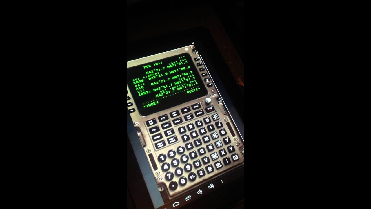 Touch Screen FMS CDU Captain Sim 757 - YouTube
