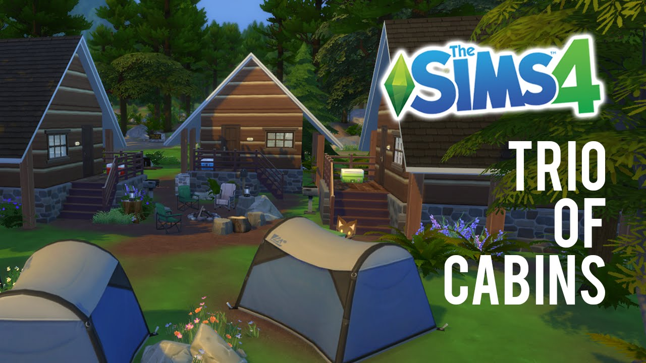 4 Camping The Sims 4 Speed Build Trio Of Cabins