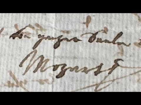 Mozart 1790 Letter, Gilman Ordway Manuscript Collection at Schubert Club Museum