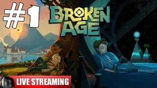 Broken Age Walkthrough Part 1 Gameplay Let's Play Playthrough Live Stream 1080p Shay/Vella Act 1