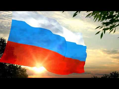 Russian Flag Under Anthem - Patriotic Song