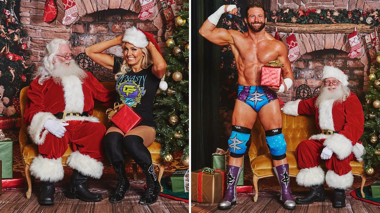WWE Superstars meet Santa Claus