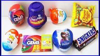 Kinder Joy Surprise Eggs Toys Cadbury Lickables Nursery Kids Rhymes And learn Colors With Gems thumbnail