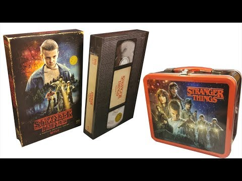 Stranger Things Season 1 VHS-Style Blu Ray and Lunchbox Review