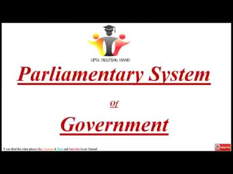 Parliamentary System Of Government