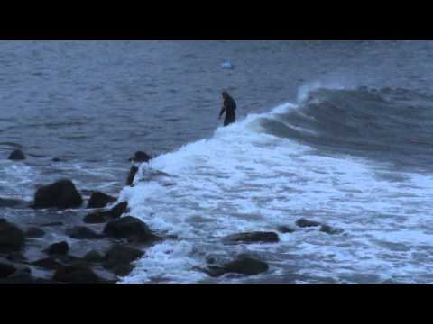 Surfing In Marblehead During Hurricane Irene
