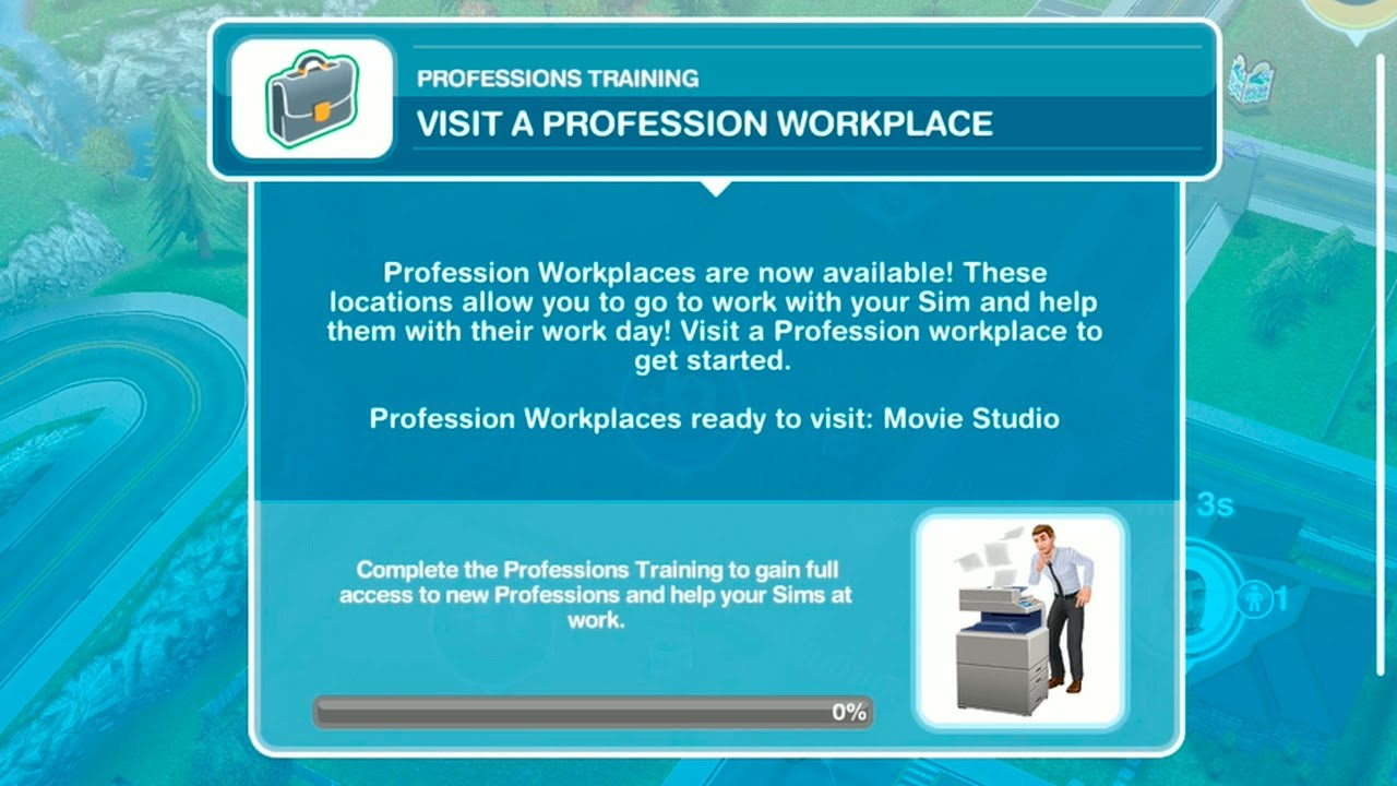 Download The Sims FreePlay - Professions Training