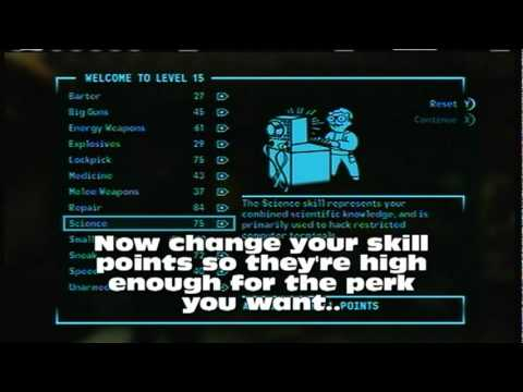 Fallout 3/New Vegas glitch: Get any perk without skill requirements