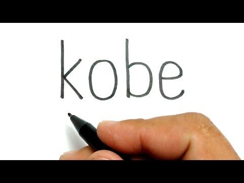 RIP, how to turn words KOBE into basketball NBA legend Kobe Bryant