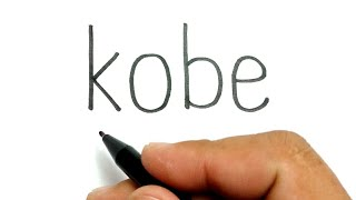 RIP, how to turn words KOBE into basketball NBA legend Kobe Bryant