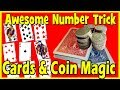 Close up Magic | Cards Coins Number Prediction Trick - Easy to Do Magic